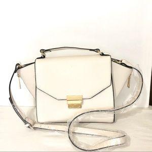 Zara Basic Black Framed Ivory Purse